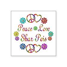 "Shar Peis Square Sticker 3"" x 3"""