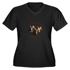 Edmonton, Alberta Women's Plus Size V-Neck Dark T-