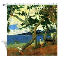 Paul Gauguin Beach Scene Shower Curtain