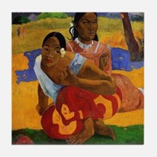 Paul Gauguin Getting Married Tile Coaster