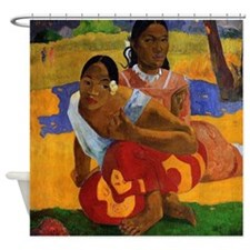 Paul Gauguin Getting Married Shower Curtain