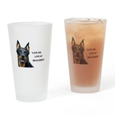 Love Me, Love My Beauceron 1 Drinking Glass