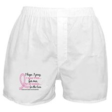 Hope Pray Wear Pink Breast Cancer Boxer Shorts