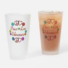 Schnauzers Drinking Glass