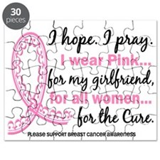 Hope Pray Wear Pink Breast Cancer Puzzle