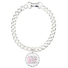 Hope Pray Wear Pink Breast Cancer Bracelet