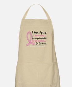 Hope Pray Wear Pink Breast Cancer Apron