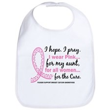 Hope Pray Wear Pink Breast Cancer Bib