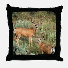 Mule deer velvet Throw Pillow