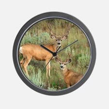 Mule deer velvet Wall Clock