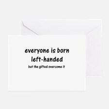 Born Left Handed Greeting Cards (Pk of 10)