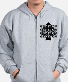 Funny Podcasting Zip Hoodie
