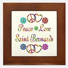 Saint Bernards Framed Tile
