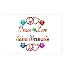 Saint Bernards Postcards (Package of 8)