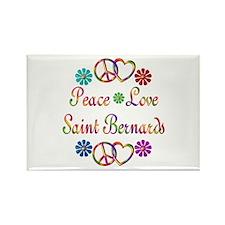 Saint Bernards Rectangle Magnet (100 pack)