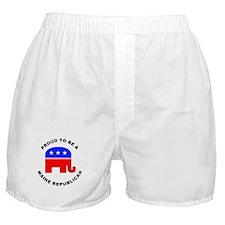 Maine Republican Pride Boxer Shorts