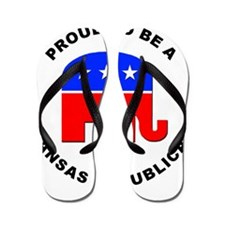 Kansas Republican Pride Flip Flops