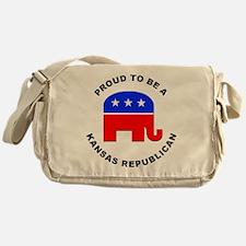 Kansas Republican Pride Messenger Bag