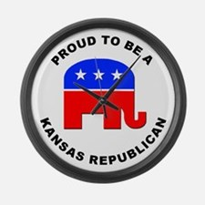 Kansas Republican Pride Large Wall Clock