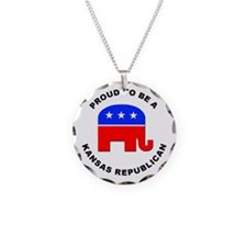 Kansas Republican Pride Necklace
