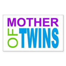 MOTHER OF TWINS Rectangle Decal