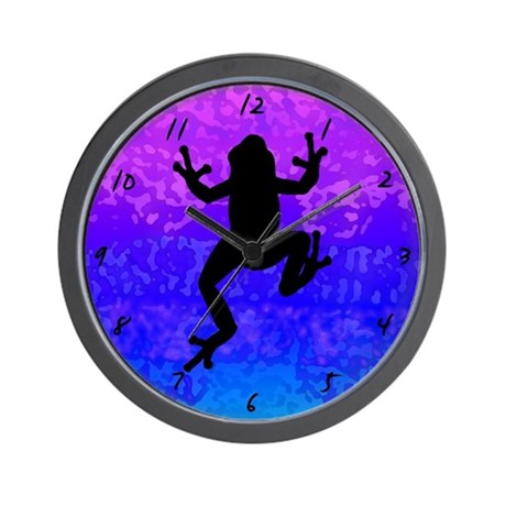 Colorful Frog Clock - Inverted