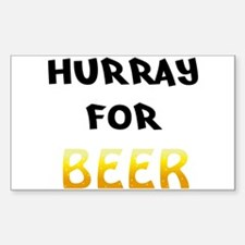 Hurray for Beer Decal