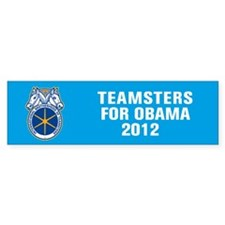 Teamsters For Obama Car Sticker