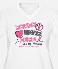 Peace Love A Cure For Breast Cancer T-Shirt