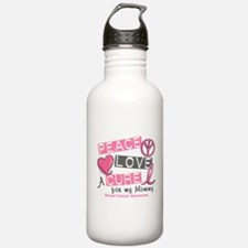 Peace Love A Cure For Breast Cancer Water Bottle
