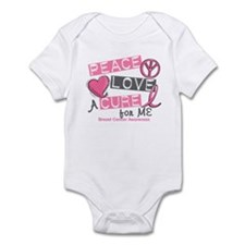 Peace Love A Cure For Breast Cancer Infant Bodysui