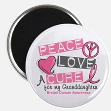 Peace Love A Cure For Breast Cancer Magnet