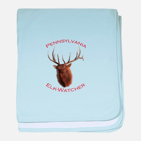 Pennsylvania Elk-Watcher baby blanket