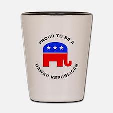 Hawaii Republican Pride Shot Glass