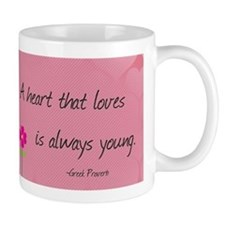 Love Quotes- A heart that loves is always young Mu