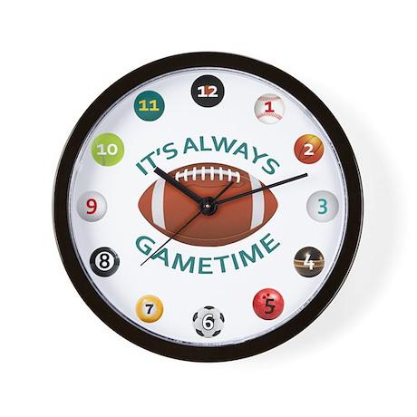 Gametime Clock - Football Wall Clock