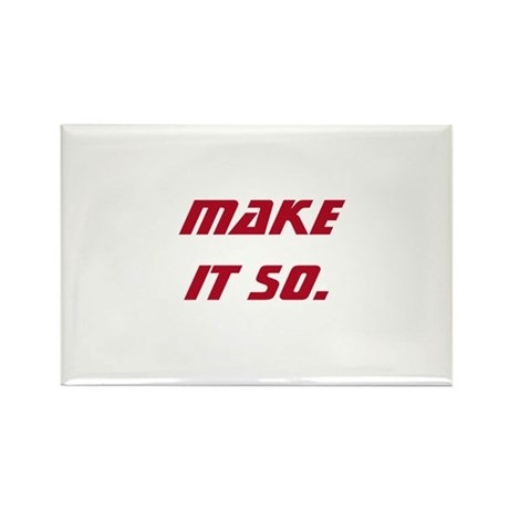 Make It So Rectangle Magnet (100 pack)