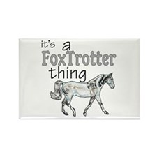 Funny Fox trotter Rectangle Magnet