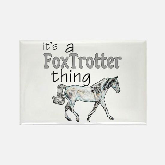 Unique Foxtrot Rectangle Magnet