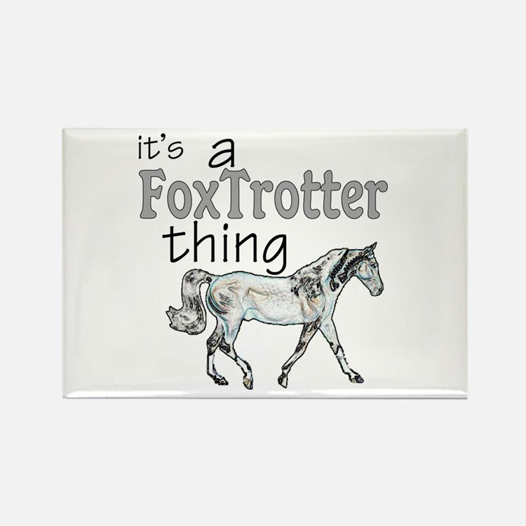 Cute Gaited horse Rectangle Magnet