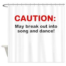 CAUTION: Shower Curtain