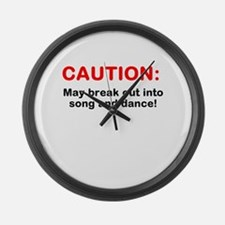 CAUTION: Large Wall Clock