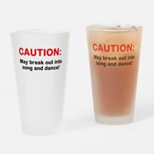 CAUTION: Drinking Glass