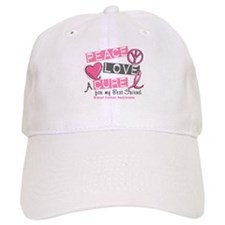 Peace Love A Cure For Breast Cancer Baseball Cap