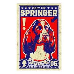 SPRINGER Spaniel! Postcards (Pack of 8)