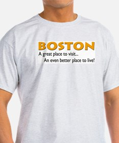 Boston...great place to live Ash Grey T-Shirt