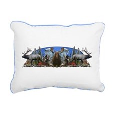 elk,deer,moose,goat Rectangular Canvas Pillow