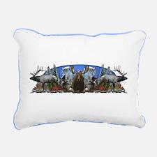 elk,deer,moose,goat Rectangular Canvas Pillow