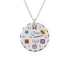 Unique Quilting Necklace Circle Charm
