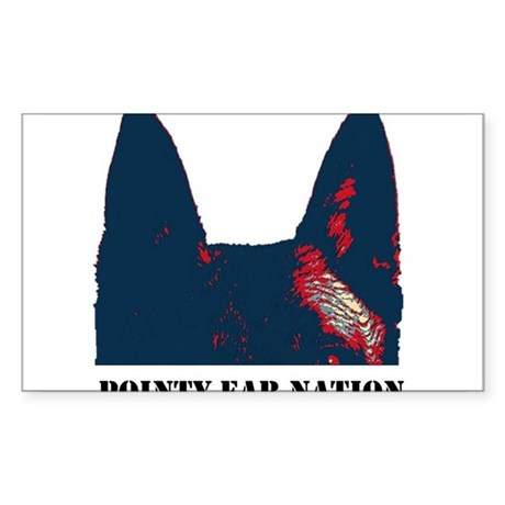 Pointy Ear Nation Sticker (Rectangle)